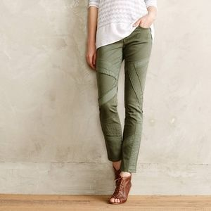 Anthropologie Pilcro sateen stripe ankle jeans